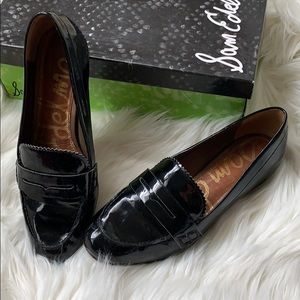 Sam Edelman black manmade loafers